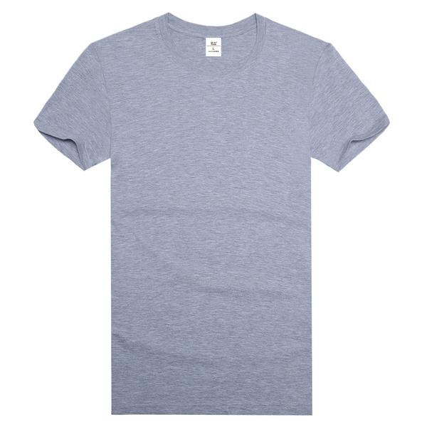 灰色纯棉精梳文化衫
