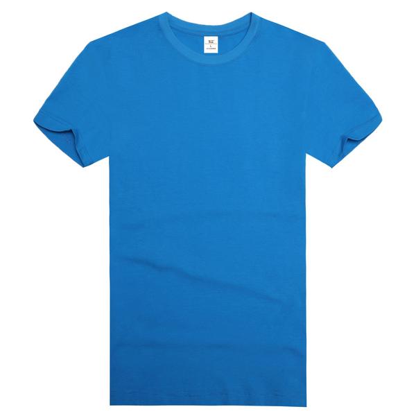 订做圆领文化衫,湖蓝色圆领文化衫,湖蓝色文化衫,