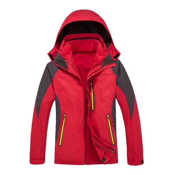 红色冲锋衣订做,户外冲锋衣定制,定做红色冲