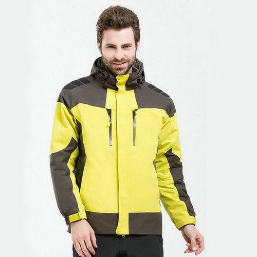 黄色两件套冲锋衣,黄色三合一户外冲锋衣,黄