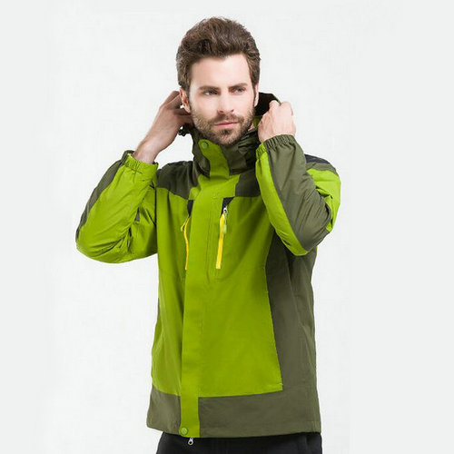 綠色三合一沖鋒衣,軍綠色戶外沖鋒衣,訂做綠