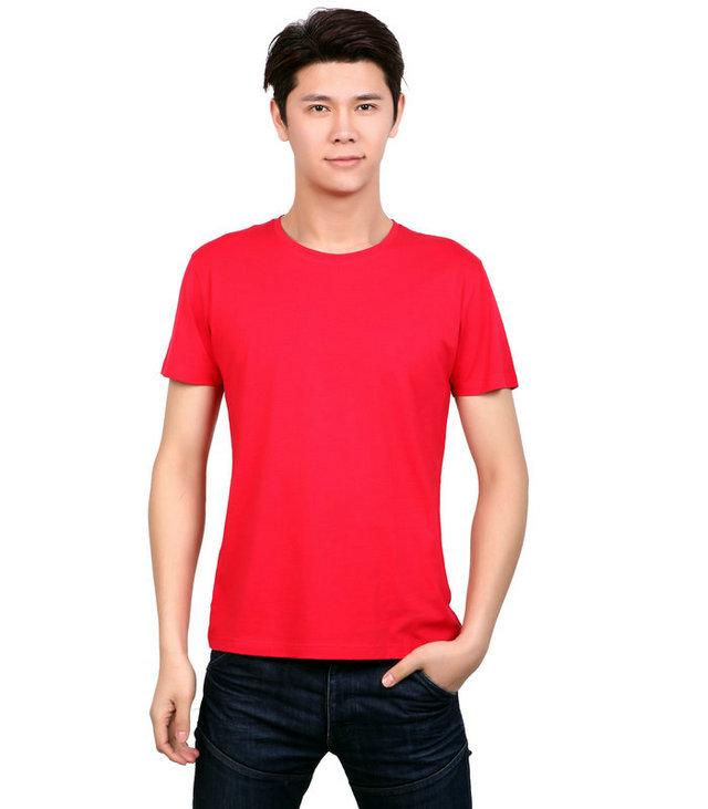 <b>订制红色广告衫,红色莱赛尔文化衫,广告衫制作厂家,</b>