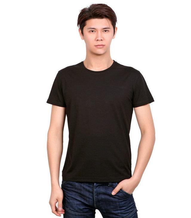 <b>黑色t恤衫印字,订做黑色文化衫,广告衫印刷图案,</b>