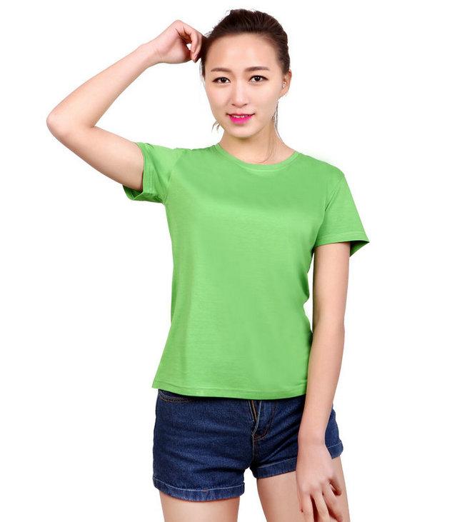 <b>绿色圆领t恤衫,订做绿色文化衫,定制圆领广告衫,</b>
