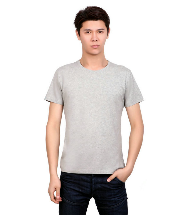 订做灰色文化衫,灰色圆领广告衫,t恤衫灰色,