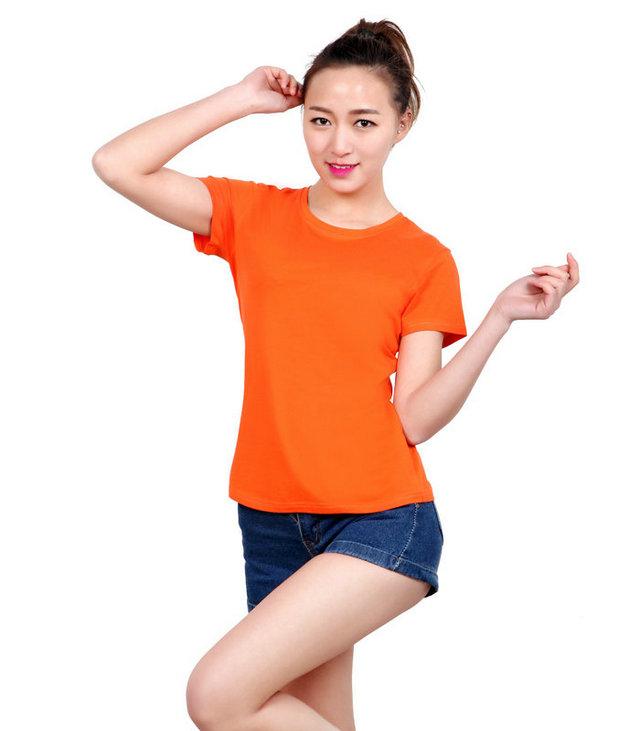 <b>订做桔色t恤衫,橙色文化衫定制,桔色圆领广告衫,</b>