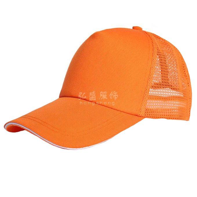 订做橙色广告帽,桔色棒球帽定制,定制桔色太阳帽,