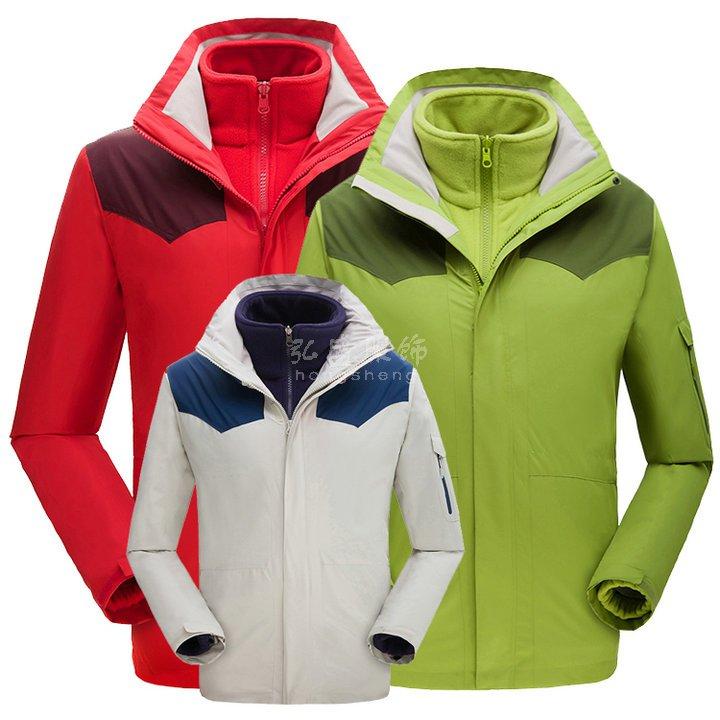 <b>亲子款冲锋衣,定做儿童冲锋衣,三合一可拆卸冲锋衣,</b>