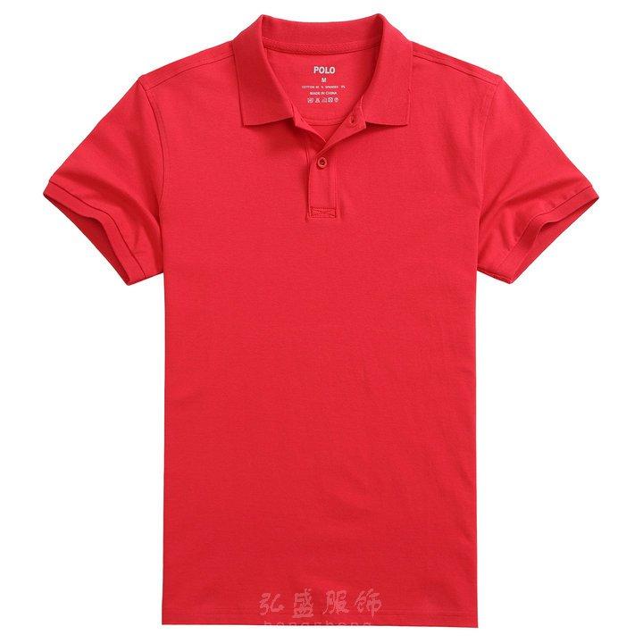 定制红色polo衫,莱卡棉polo衫,翻领polo衫款