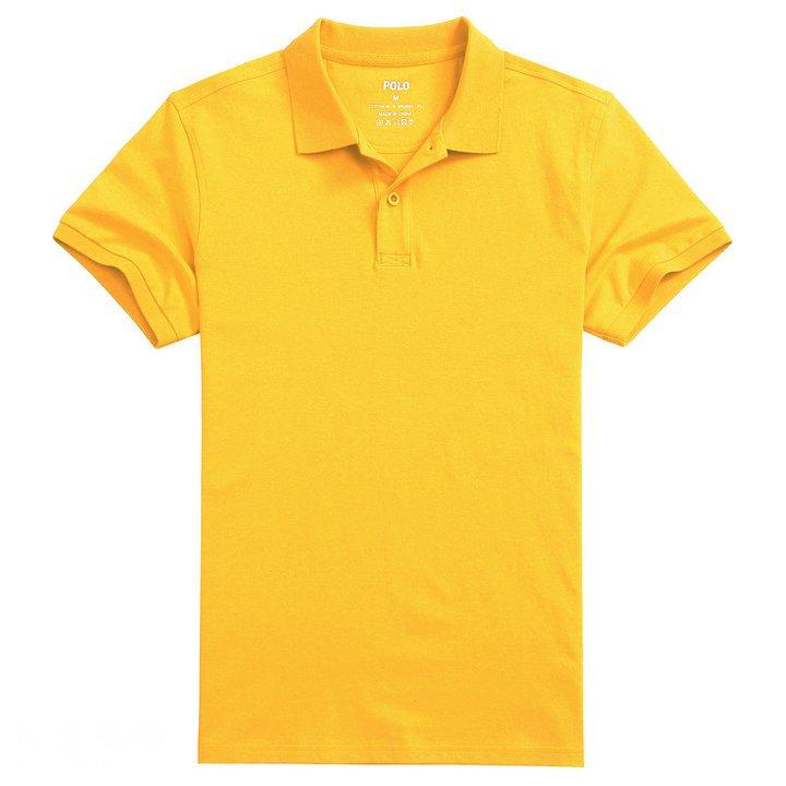 全棉POLO订制,黄色polo衫,定做黄色T恤衫,