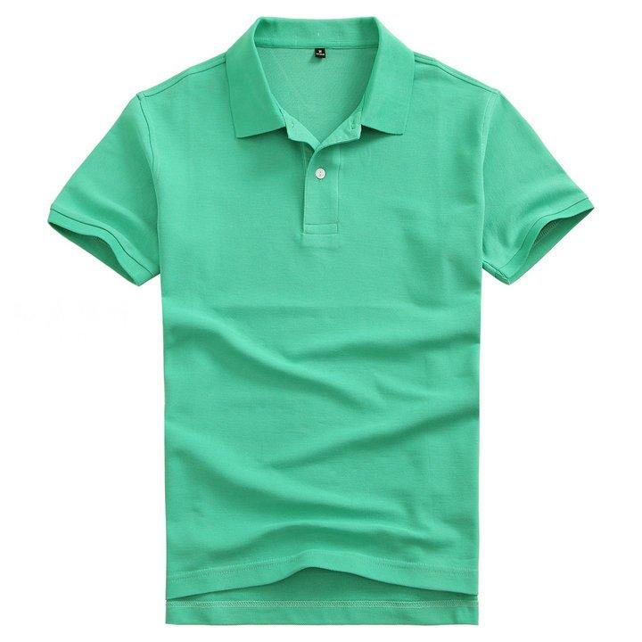 定做高档POLO衫,纯色POLO衫款式,绿色POLO衫