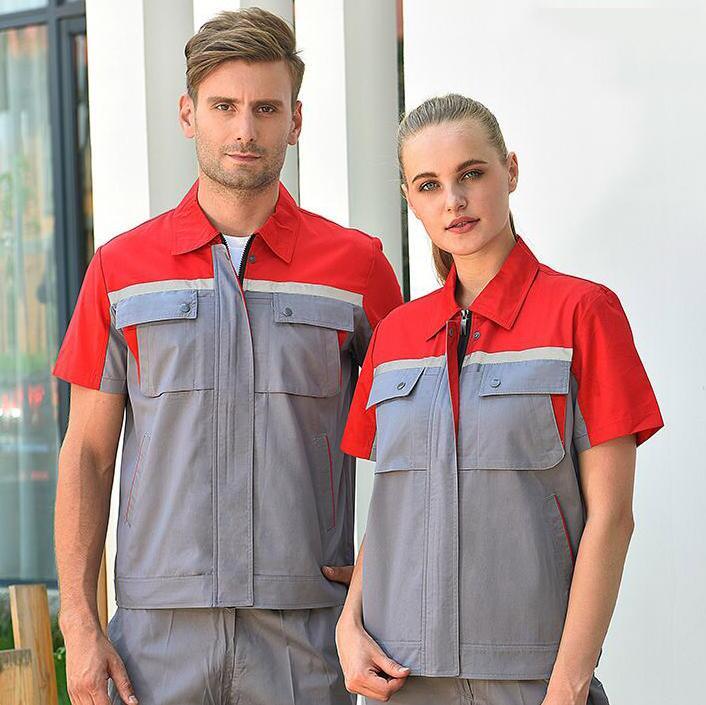 <b>定做短袖工作服/夏季短袖工作服套装/短袖工作服印字</b>