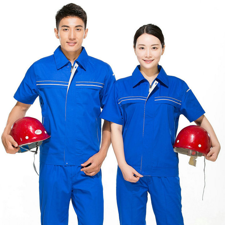 <b>订制短袖工服/夏季短袖工服套装/短袖工服印字</b>