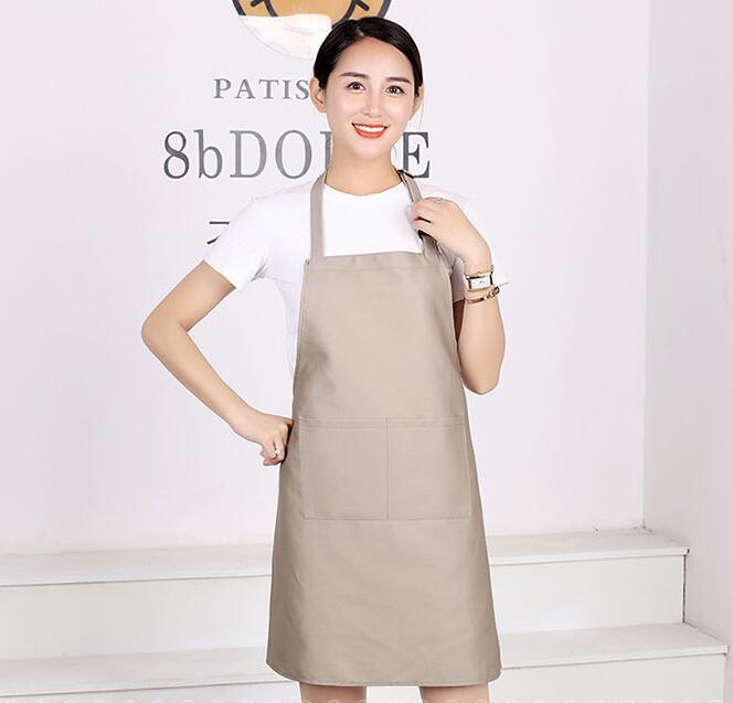 涤棉可调节围裙,12种颜色可选,围裙印字印图